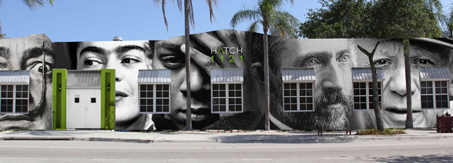 Exterior image of HATCH 1121 builsing mural