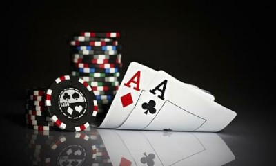 Graphic image of playing cards and poker chips