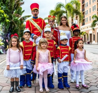 Image of children dressed in band uniforms and ballet