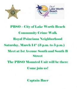 Crime Walk Flyer