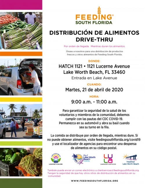Feed South Florida flyer in Spanish