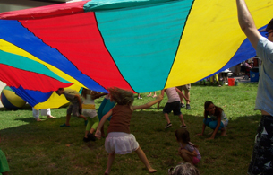 Image of children playing at Earthday celebration in Lake Worth