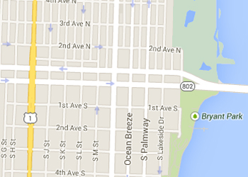 Map image showing location of Pocket Parks in Lake Worth