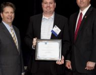 Image of Lake Worth CRA accepting an award