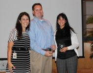 Image of Lake Worth CRA accpting award for Wellness Challenge